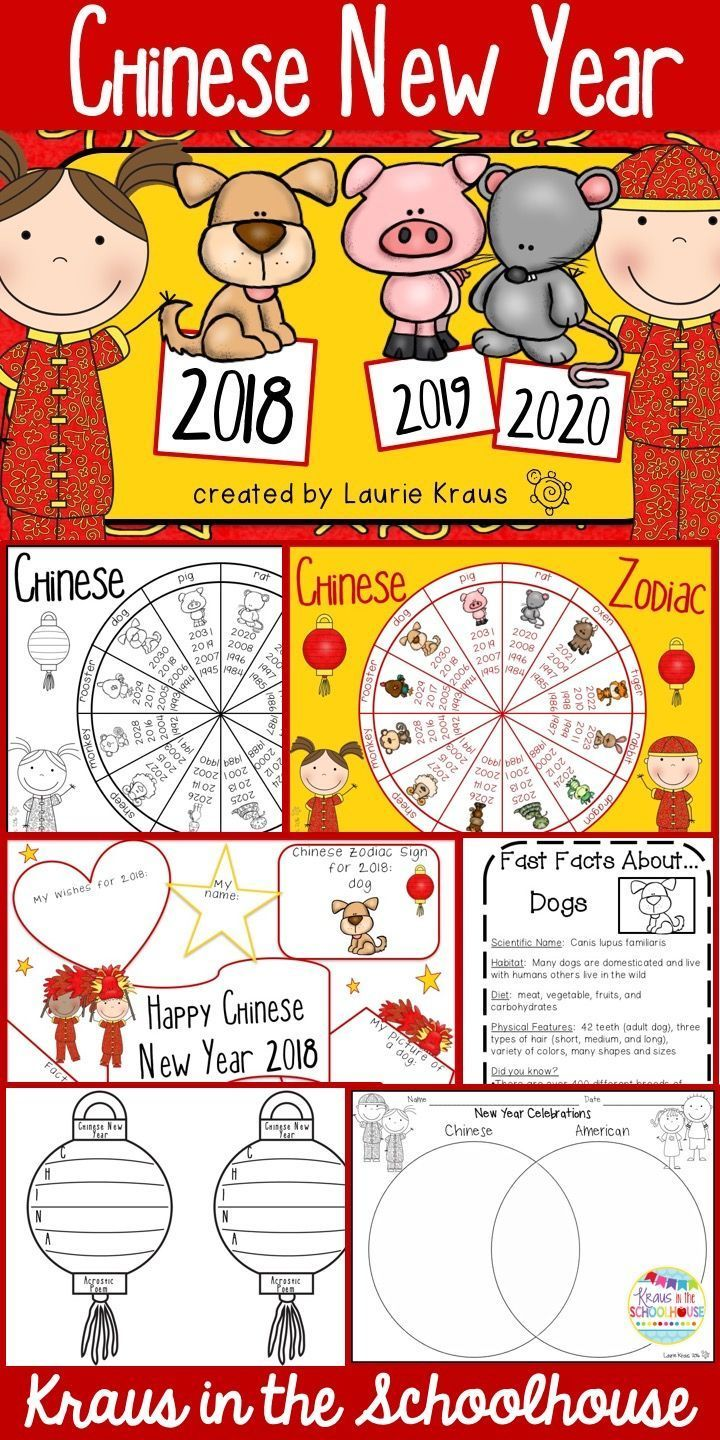 chinese new year 2018 year of the dog activities graphic organizers and students - Chinese New Year 1985