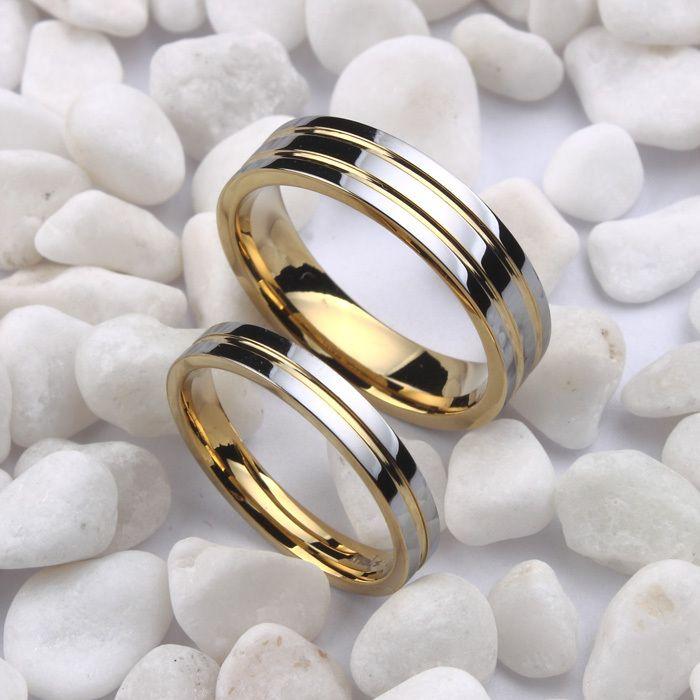 aff73a3357b5 Cheap Tamaño 4 12.5 18 K Oro Blanco plateado anillo de alianzas de boda de  tungsteno
