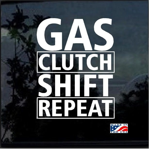 Gas Shift Clutch Repeat Window Decal Sticker – Custom Sticker Shop