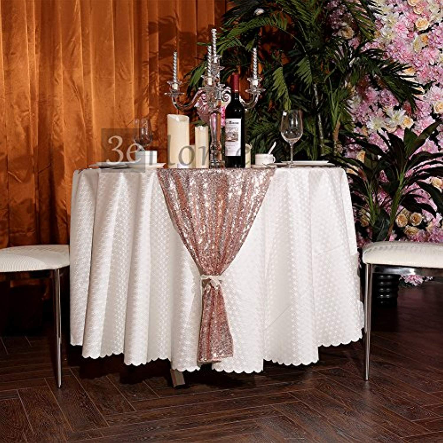 3e Home 12x108 Sequin Table Runner For Party Dinner Banquet Rose Gold You Can Find Out More Det Rose Gold Party Decor Party Cake Table Sequin Table Runner