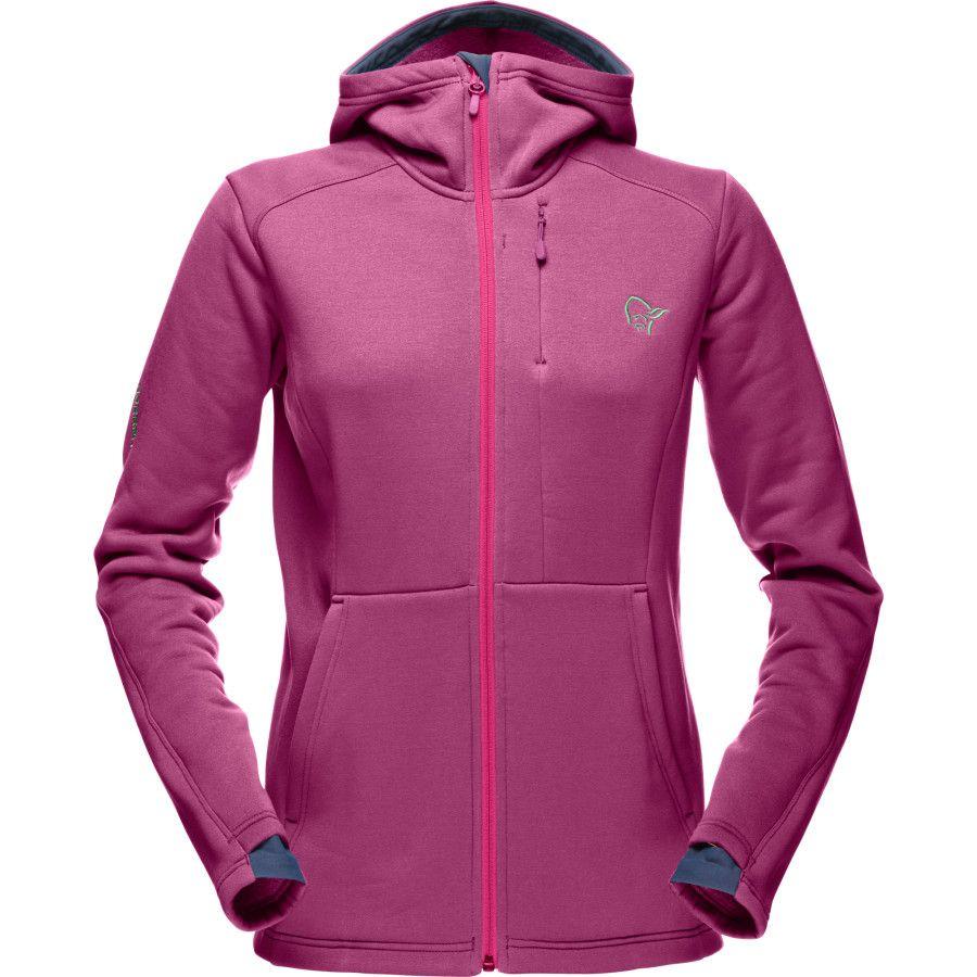 Norrøna polartec warm stretch hooded fleece jacket womenus