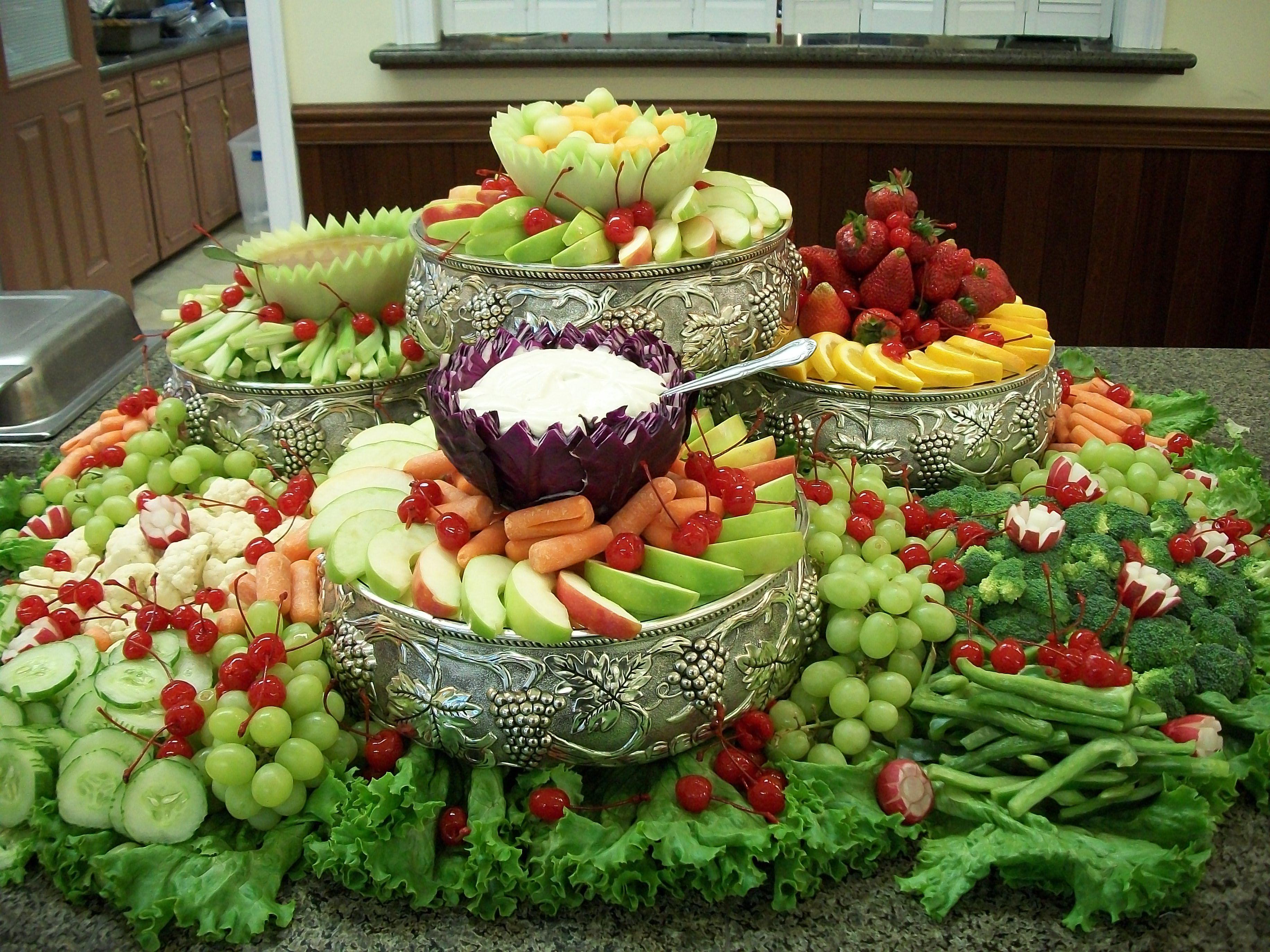 Fruit vigitable arrangement my weddings pinterest for Baby shower fruit decoration ideas