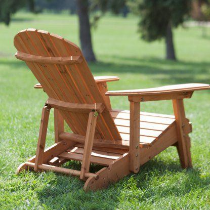 Adirondack Chair Kit with Pull out Ottoman Brown
