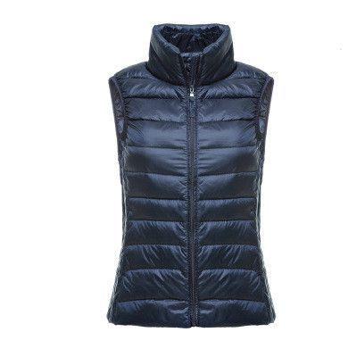 Packable Ultra-light Sleeveless Women's Winter Down Jacket Duck Feather Warm Waistcoat Down Vest Outerwear Coats Women