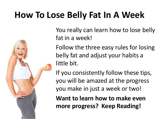 easy way to lose belly weight fast