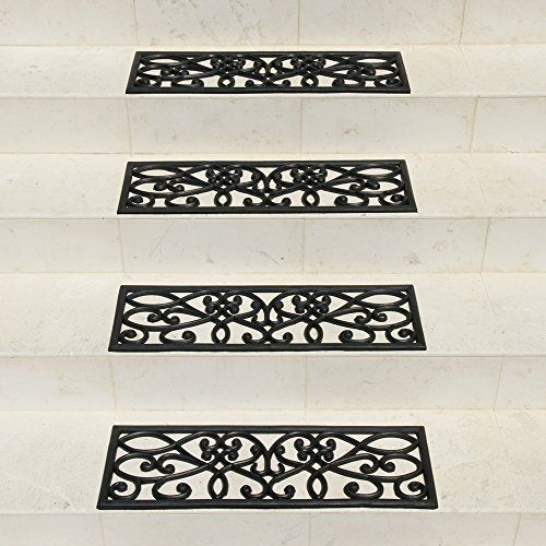 Crafted Butterfly Rubber Patterned Stair Set Non Slip/skid Treads Outdoor  Mat