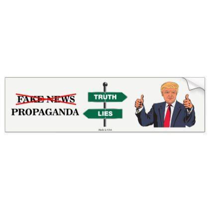Pro donald trump anti fake news bumper sticker