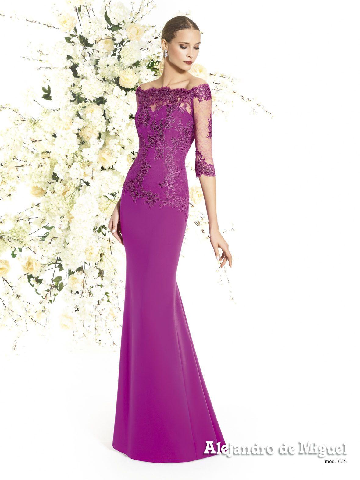 Alejandro de Miguel | Vestido Largo – mod. 825 | invitada boda ideas ...
