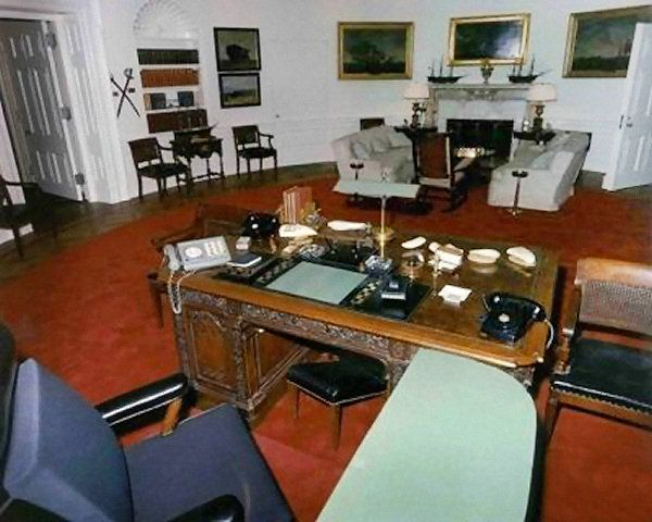 replica jfk white house oval office. jackie had redesigned the oval office and arranged for it to be done while they were in texas surprise jfk after shooting staff rushed return replica jfk white house o
