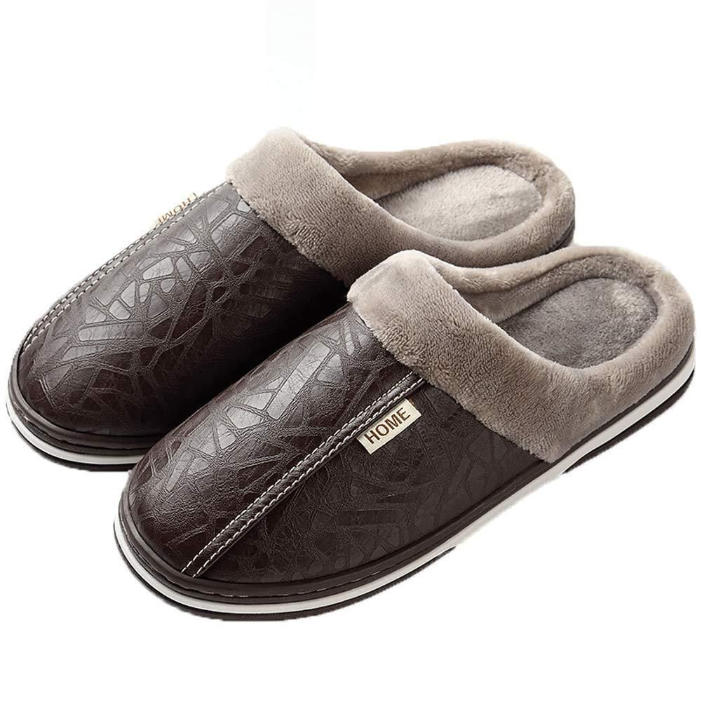 Warm Fur Lined Slippers for Women Men House Slipper Winter Home Shoes with Non-Slip Sole for Indoor /& Outdoor