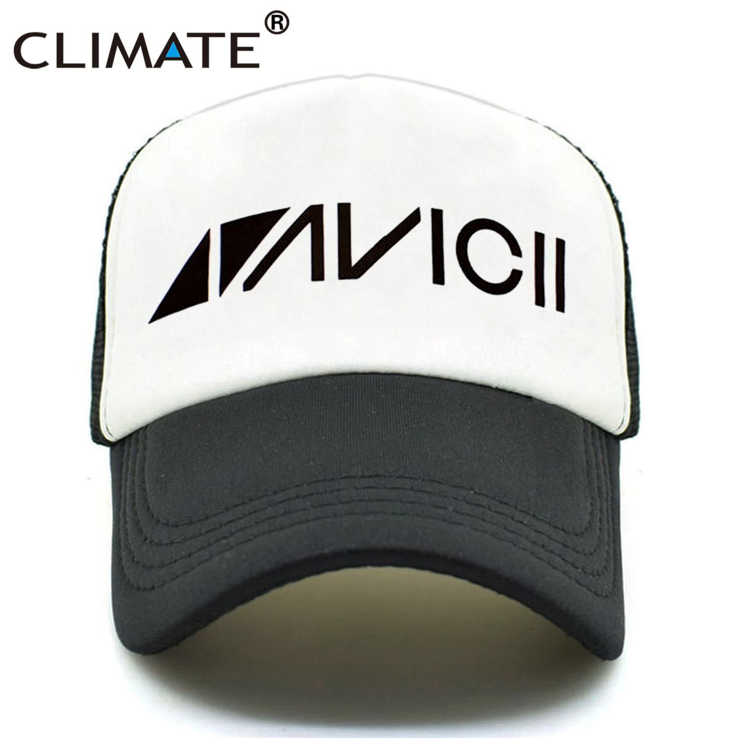 ec4f4b66d CLIMATE Men Women New Trucker Caps AVICII TRUE Caps Summer Hip Hop ...