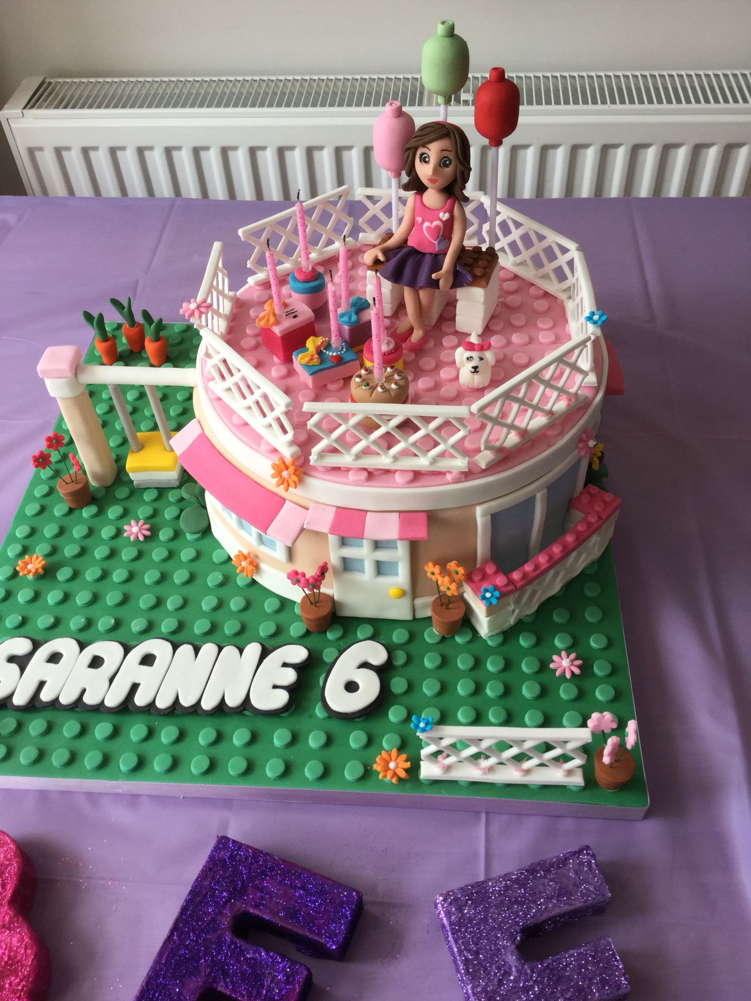Cool Sarannes Lego Friends Birthday Cake Olivias House Made By Personalised Birthday Cards Paralily Jamesorg