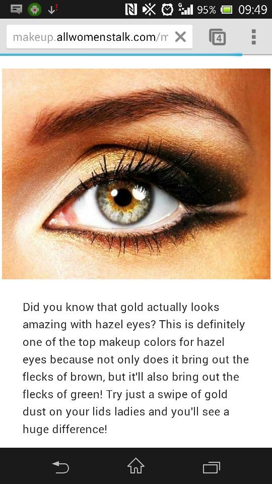I Use Gold Eyeliner But Gold Shadow Could Make An Impact Gold