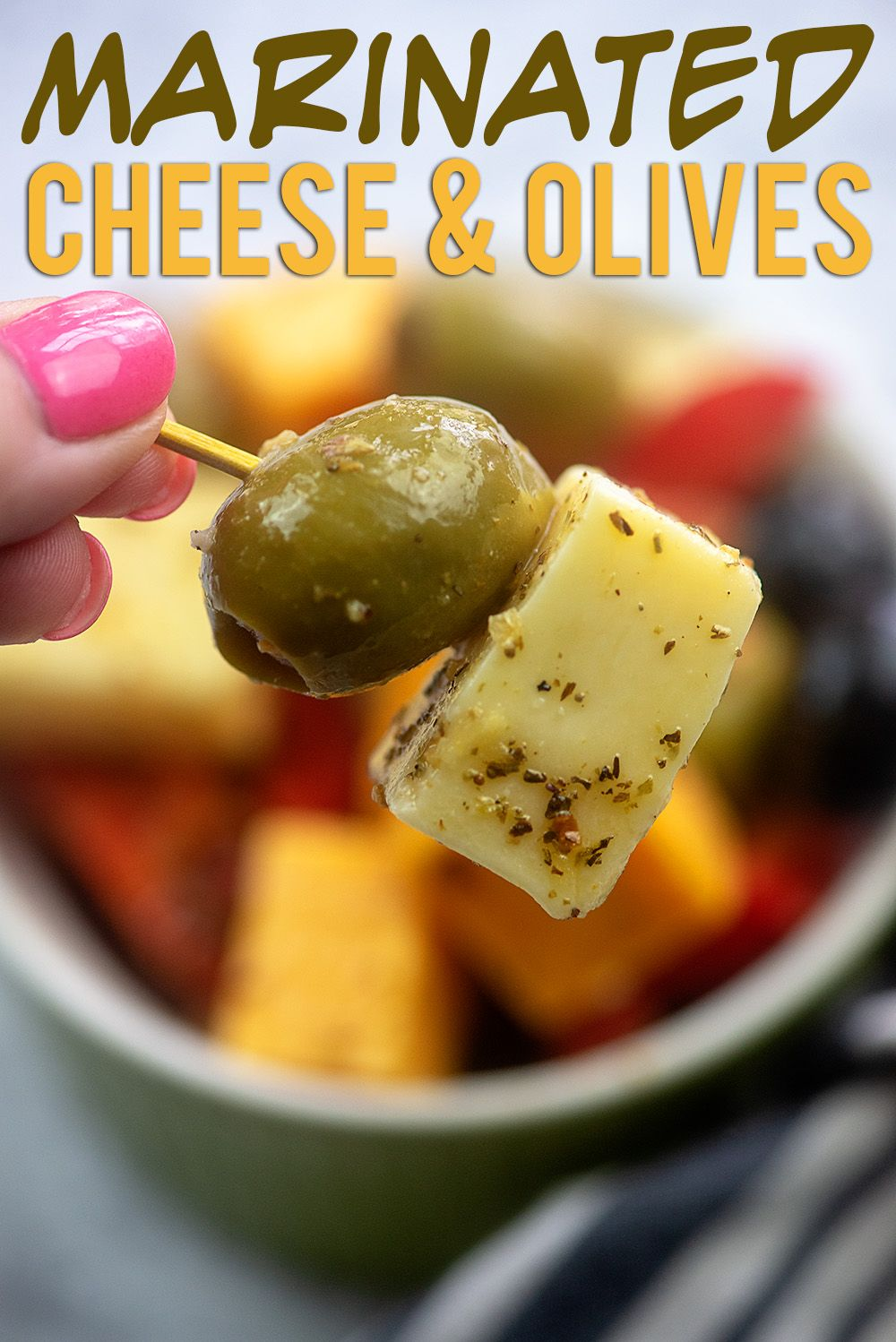 Marinated Cheese And Olives Recipe Marinated Cheese Appetizers Easy Low Carb Appetizers