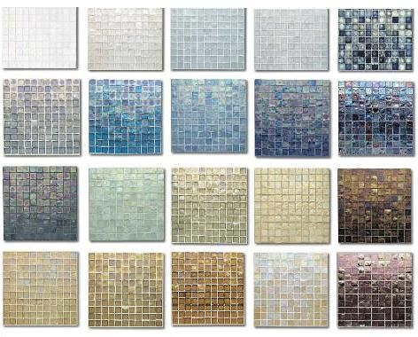 Oceanside Glasstileu0027s Tessera Glass Tile   The Iridescent Beauty! Part 66