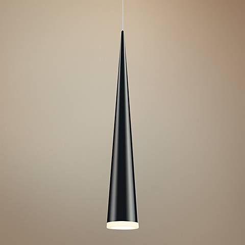 Sonneman micro cone 1 34 wide satin black led mini pendant mini sonneman micro cone 1 34 wide satin black led mini pendant aloadofball Gallery