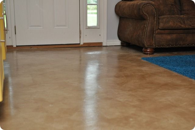 Dibble Dabble Life Diy Painted Stained Concrete Living Room Floors Best Tutorial Projects