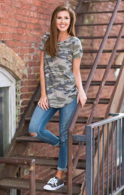 Summer camping outfits for women casual camo pants 15 ...