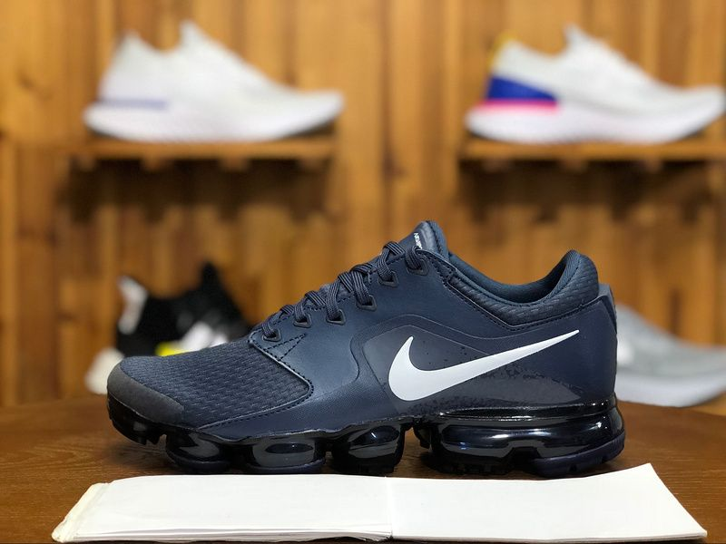 sports shoes 56d8e 93f8b 2018 Nike Air Vapormax Flyknit Mens Athletic Shoes Navy Blue White AH9046- 401