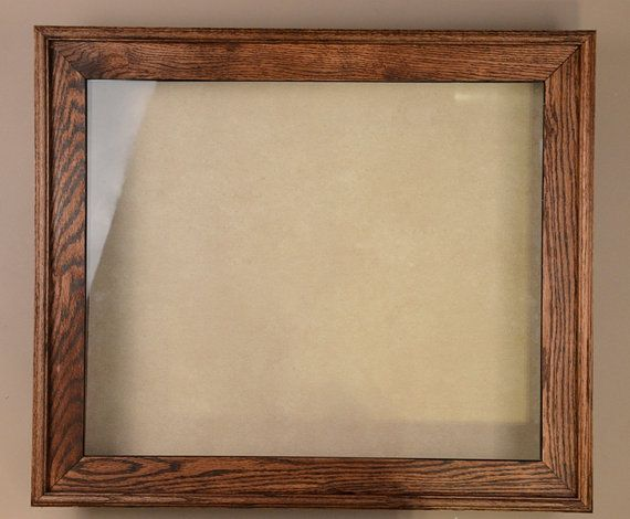 Solid Oak Shadow Box Frame | Picture Frame | Wood Frame | Made to ...