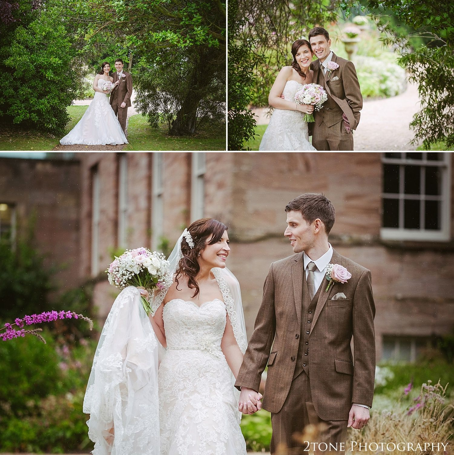 Natural Wedding Photographs At Newton Hall By Husband And Wife Photographer Team 2tone Photography