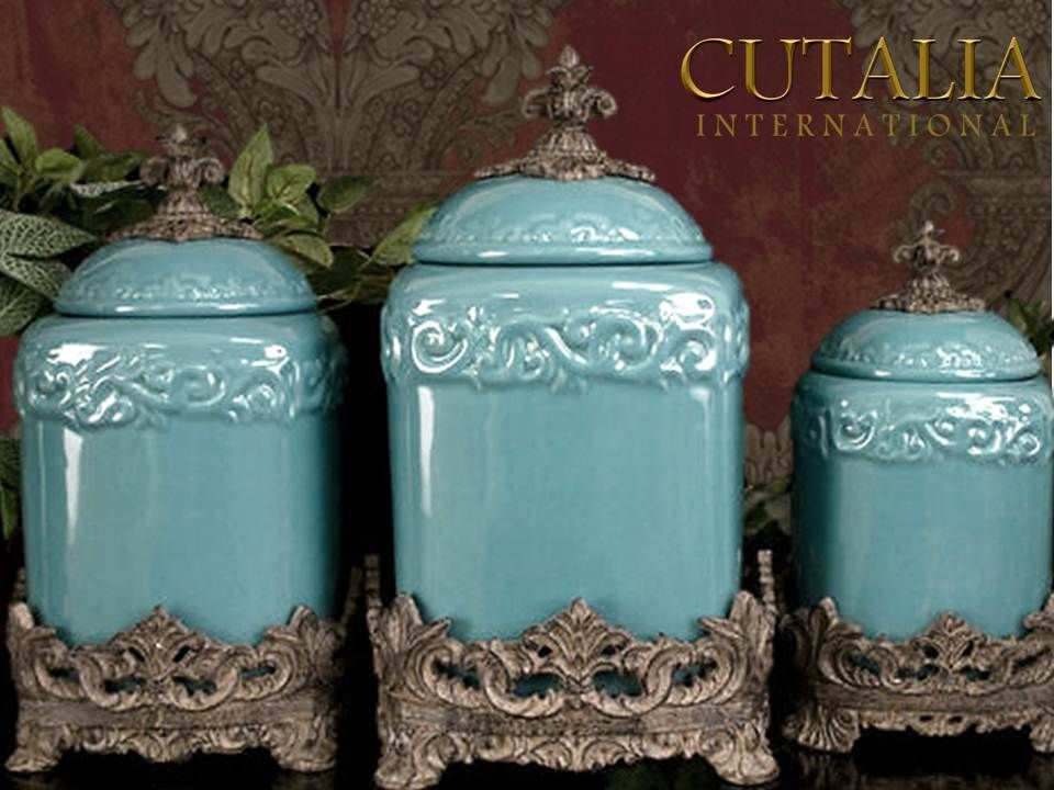 designer kitchen canister sets canisters by drake design turquoise kitchen kitchen canisters turquoise decor 668