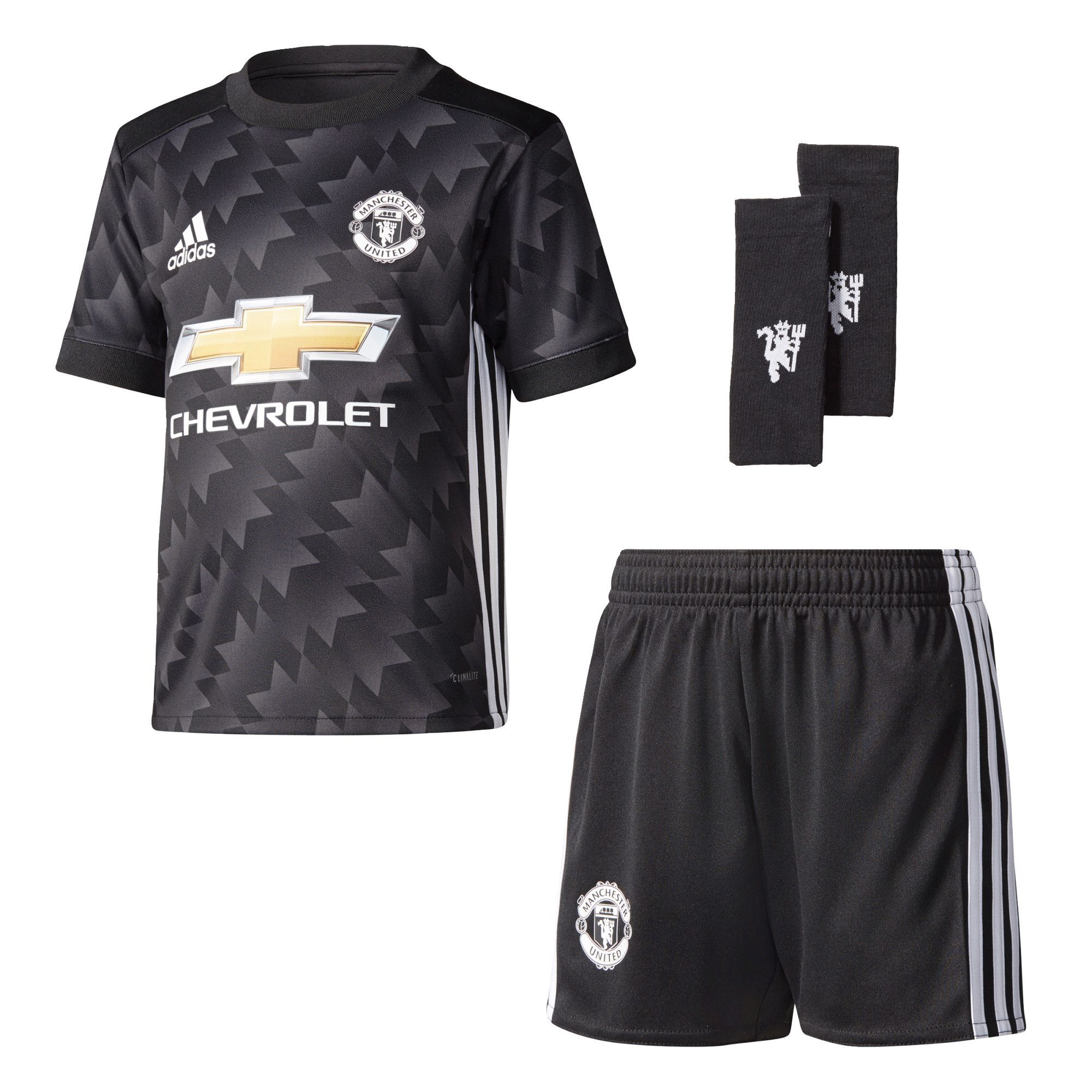 The adidas Manchester United 2017/18 Kids Away Mini Kit takes its  inspiration from the iconic 90-92 season shirt with a modern makeover with  added technical ...