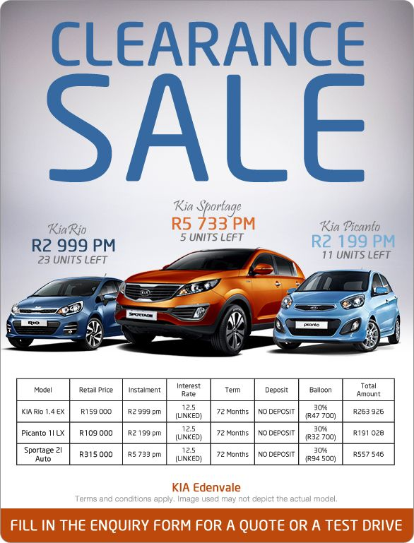 Kia Clearance Sale With Prices From R2 199 Pm Kia Picanto 1 0 Lx