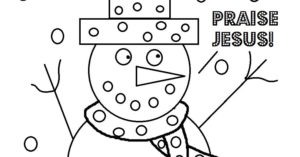 church house collection blog christmas coloring page for sunday school snowman praise jesus coloring page