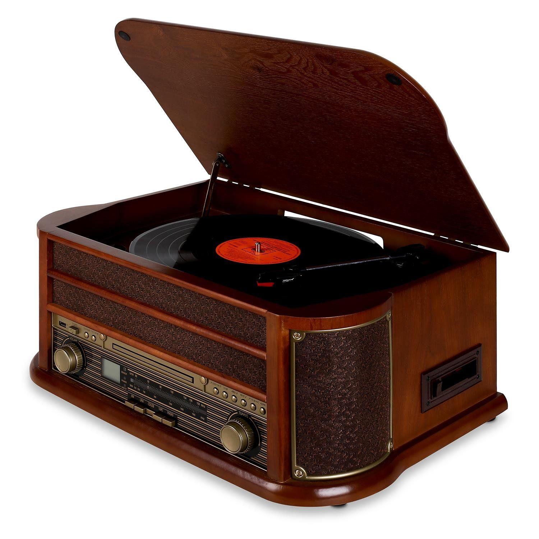 auna belle epoque 1908 retro stereoanlage bluetooth. Black Bedroom Furniture Sets. Home Design Ideas