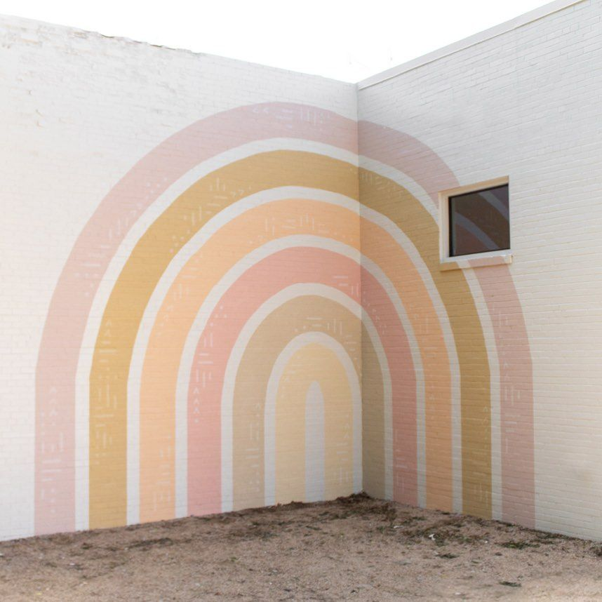 How to Paint a Rainbow Mural