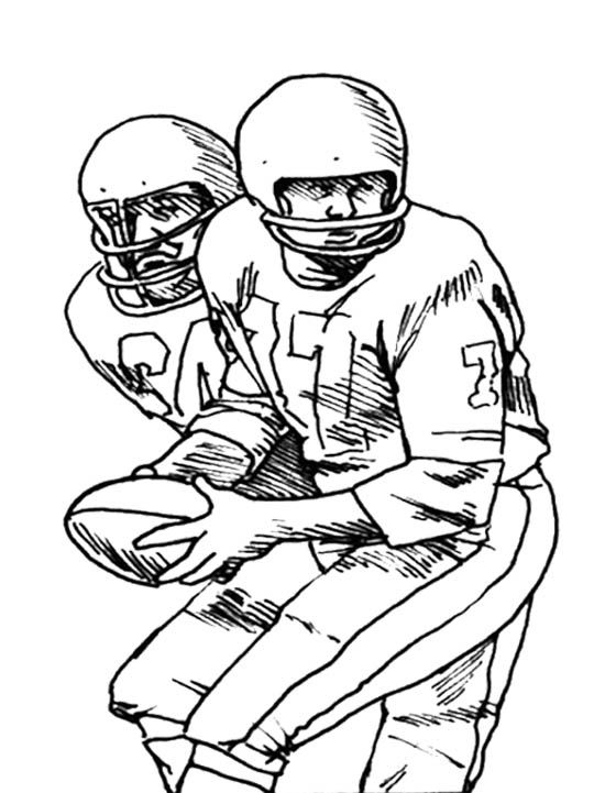 Two Football Player Coloring Page Kids Coloring Pages Pinterest