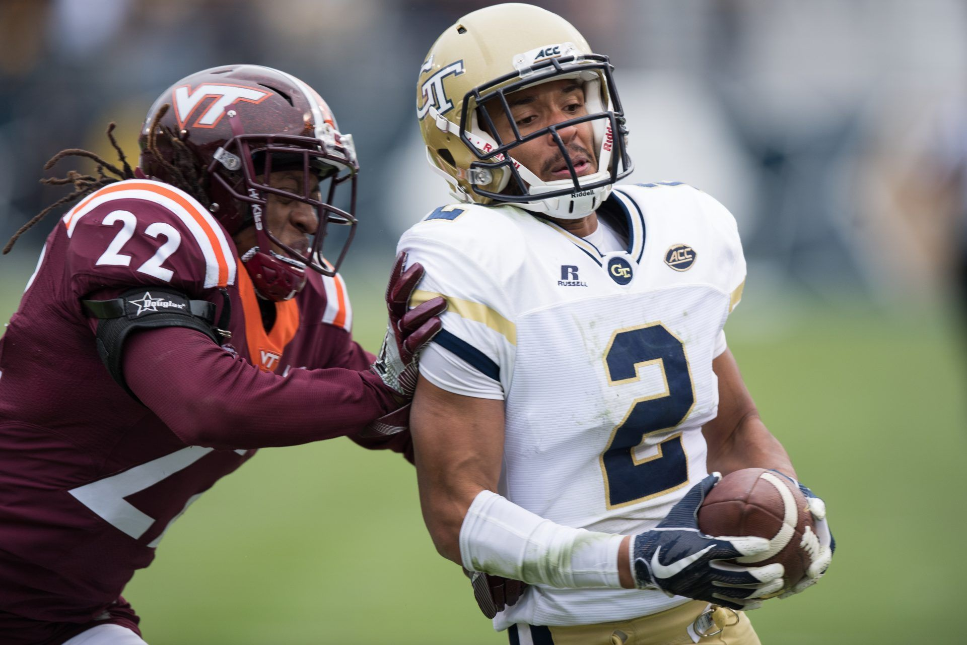 By Rebecca Washney Atlanta The Yellow Jackets Quarterback Taquon Marshall Did Just Enough To Scrape A Win Over V Virginia Tech Yellow Jacket Football Helmets