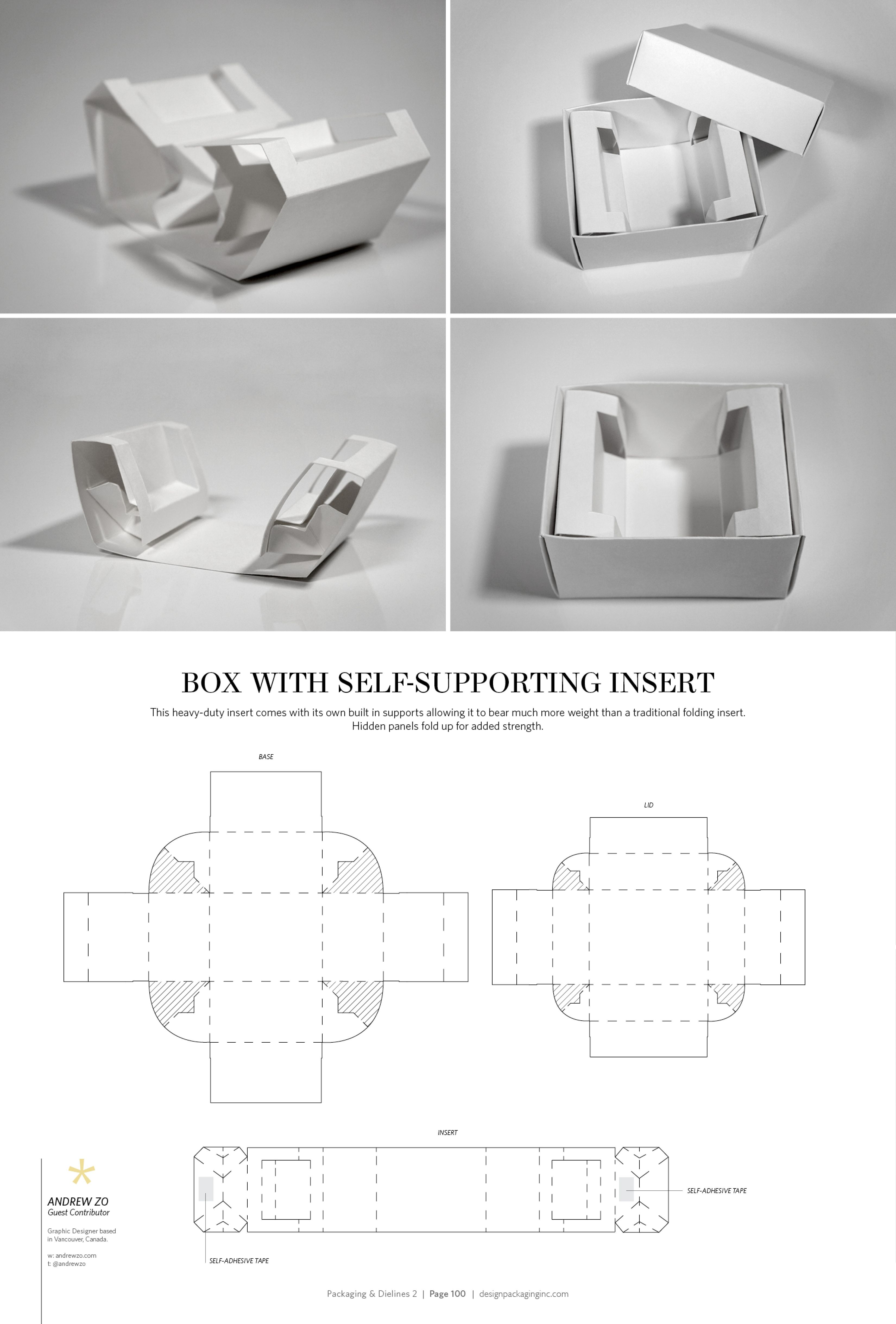 Box With Self Supporting Insert Free Resource For Structural Packaging Design Lines