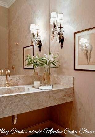 55 Lavabos de Luxo!!! Pequenos e Sofisticados! - lavabos pequeos
