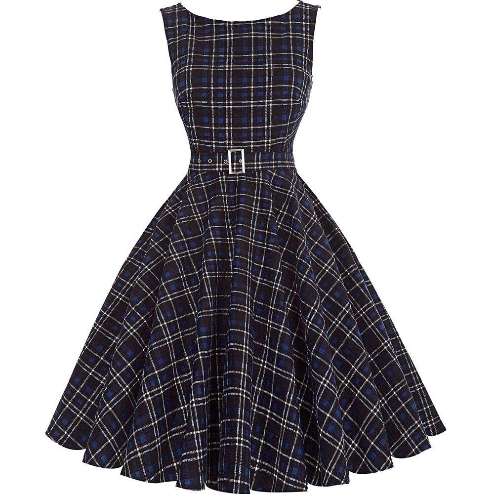 schwarzes vintage kleid kariert | vintage kleider, kleider