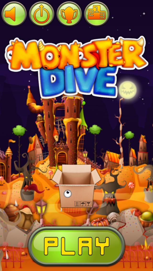 iPhone App Monster Dive Games Arcade 4 0.99 NOW