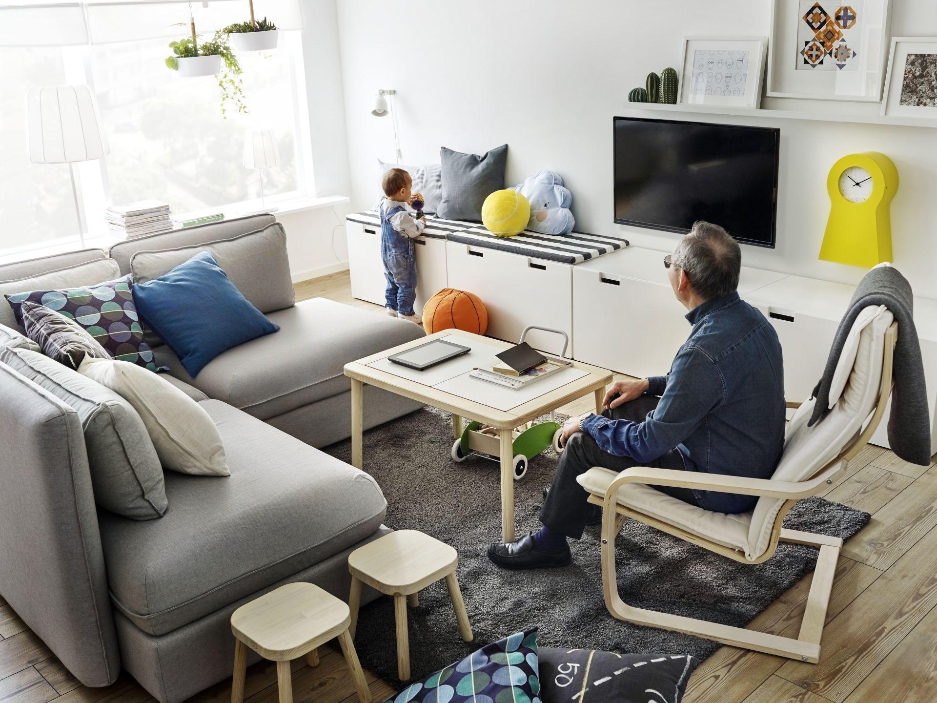 VALLENTUNA Zitmodule met bed en rugleuning, Hillared groen | Interiors