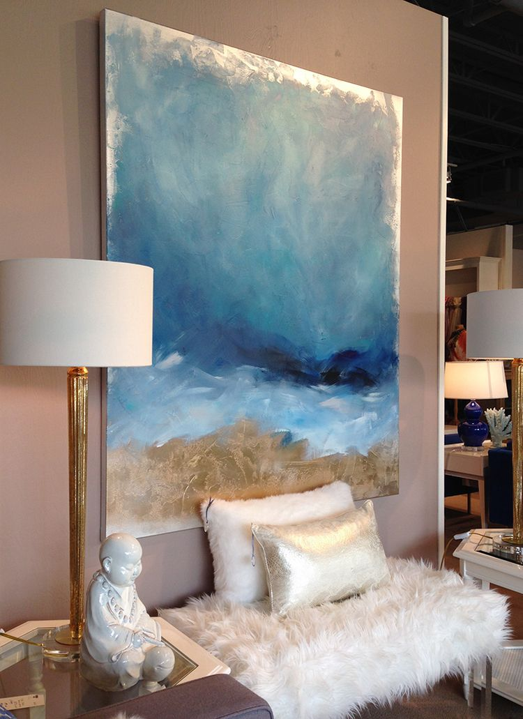 Photo of Julia's Contemporary Abstract Art Showcased in Situ