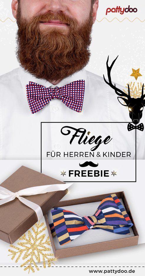 Photo of Nähanleitung Fliege Free Mit Freebie für Herren & Kinder   PATTYDOO