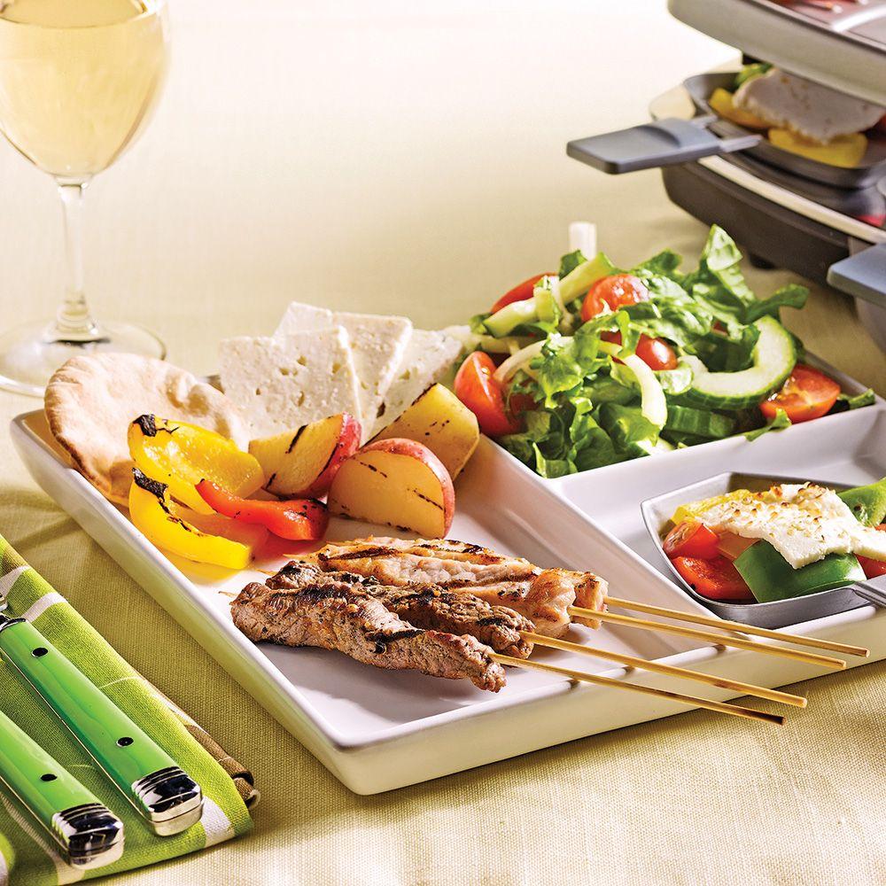 raclette la grecque recettes cuisine et nutrition pratico pratique fondues raclette. Black Bedroom Furniture Sets. Home Design Ideas