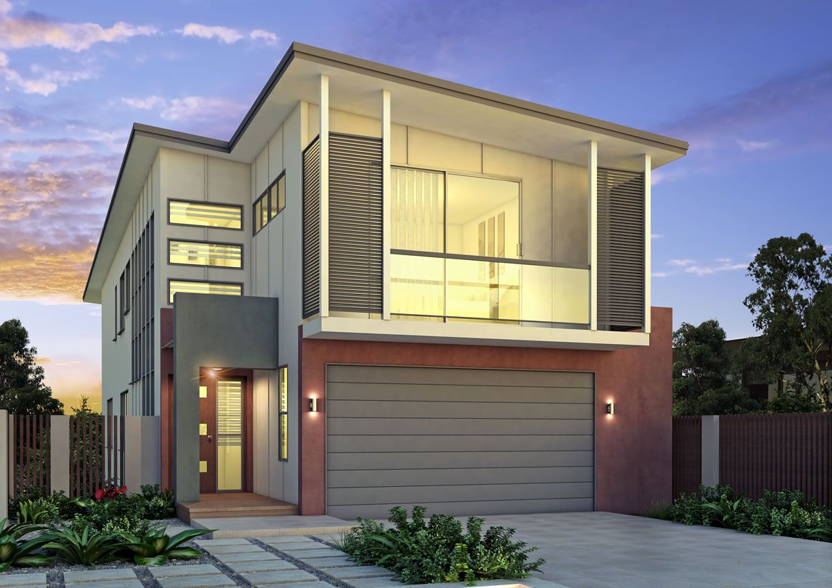 Outlook is a small lot and narrow block home design by GW Homes, the ...
