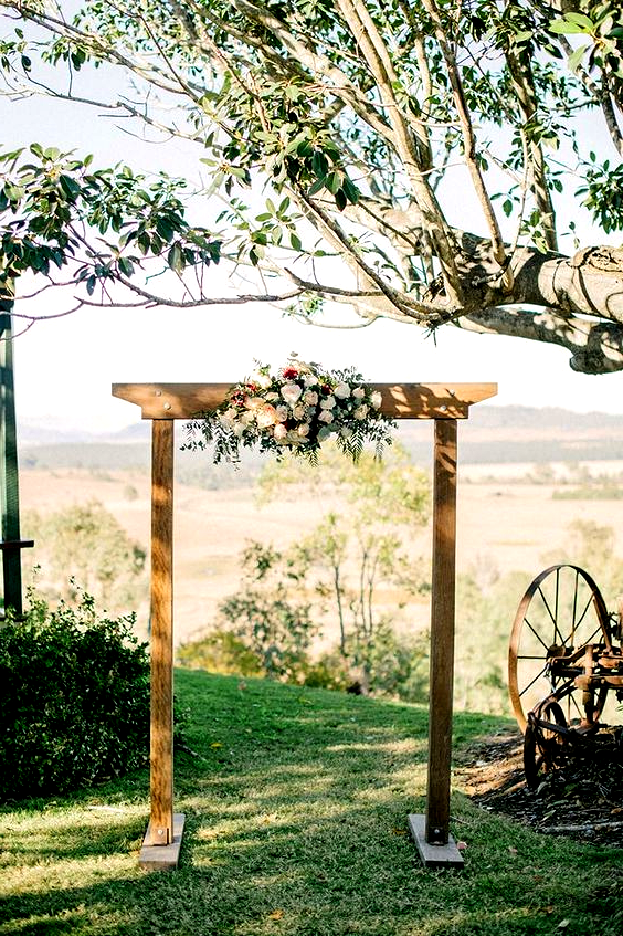 100 Rustic Wedding Ideas Floral Adorned Wedding Arch Outd In