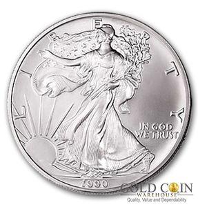 1990 1 Oz Silver American Eagle Brilliant Uncirculated American Silver Eagle Silver Bullion Coins Silver Bullion
