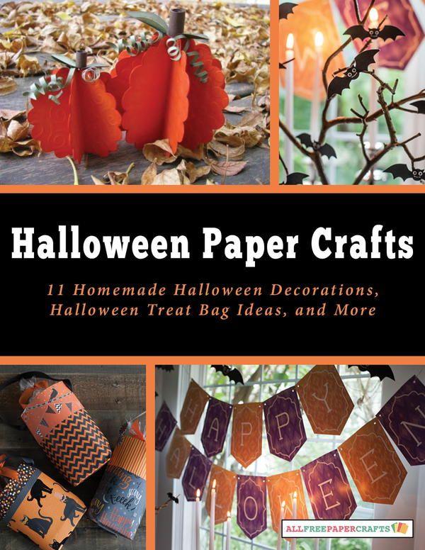 Halloween Paper Crafts 11 Homemade Halloween Decorations, Halloween - decorate halloween bags