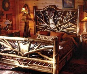 Rustic Twig Bed By Ralph Kylloe Can T Wait To Visit His