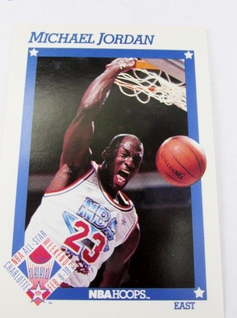 1991 NBA HOOPS Michael Jordan All-Star Basketball Card
