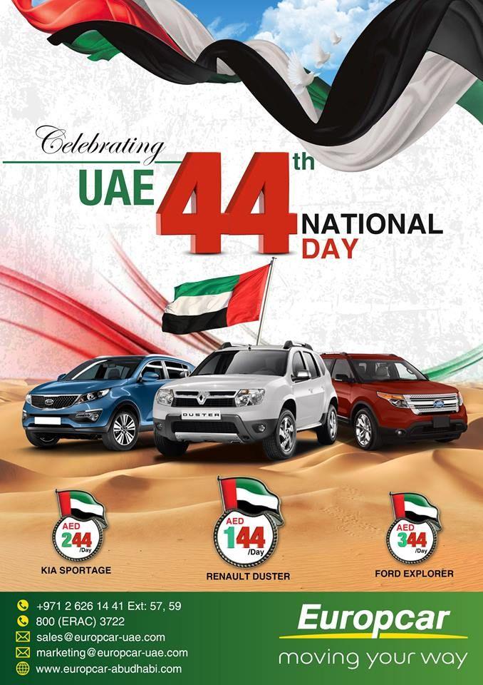 Celebrate Uae 44th National Day With Europcar Abu Dhabi Europcar