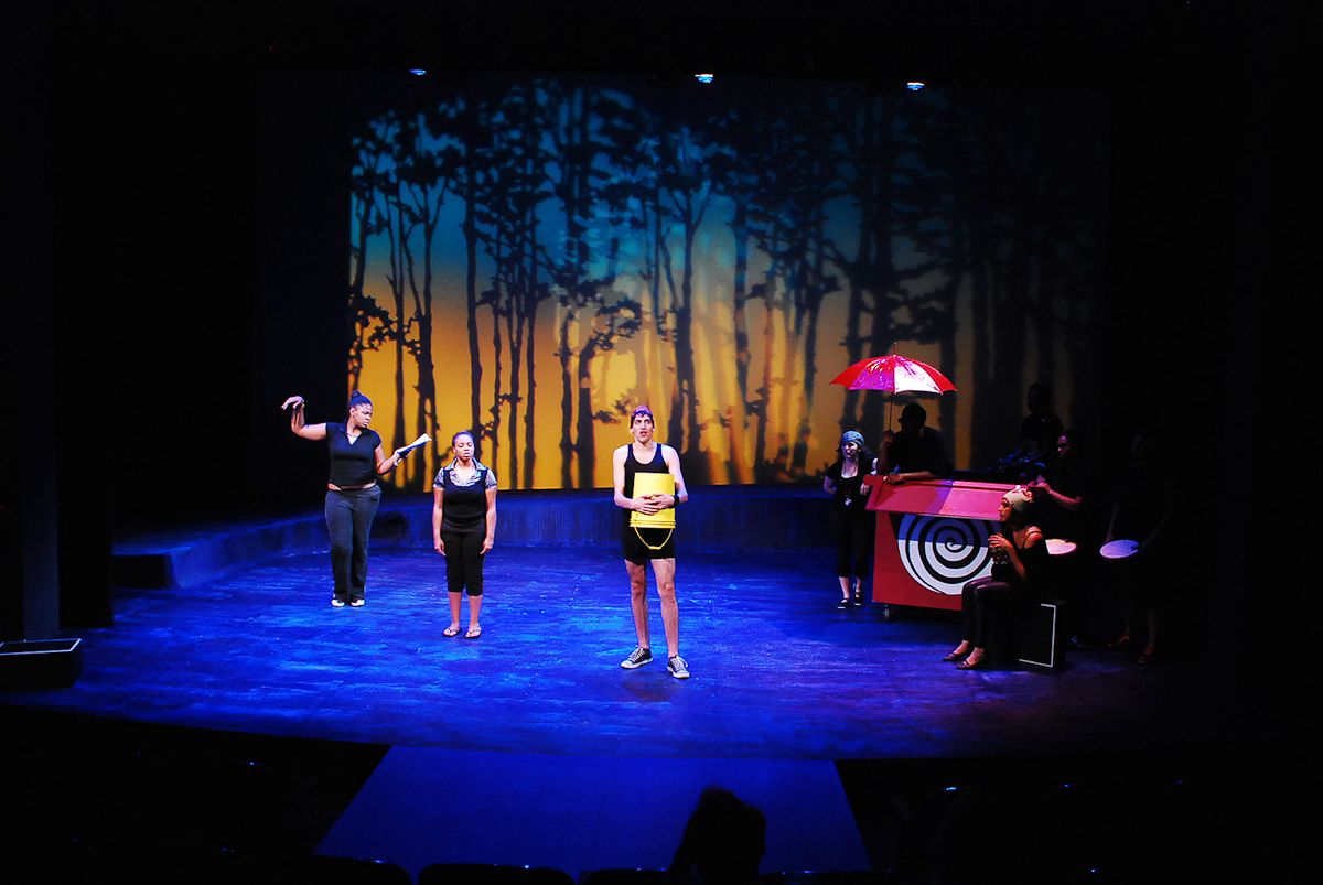 Silhouette Of The Trees Can Be A Plain Base Can Use Lights To Set The Place More Flexibl Stage Lighting Design Set Design Theatre Lighting Design Theatre