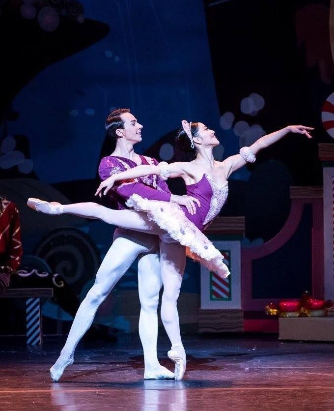 Oklahoma City Ballet's Miki Kawamura and Alvin Tovstogray in the Act II grand pas de deux photographed by Eric Peyton